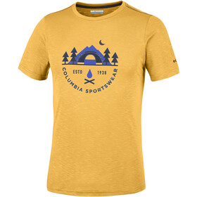Columbia Nelson Point Graphic t-shirt Heren geel